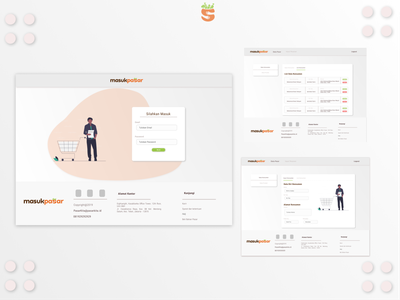 Masukpasar Dashboard flat web ux ui illustration