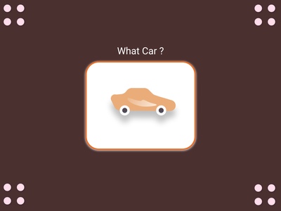 Just a car minimal web icon flat design