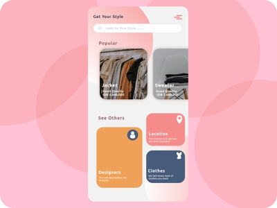 clothes Apps ux ui illustration design