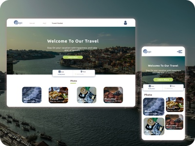 Skut Travelling website app minimal web icon flat design