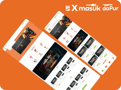 masukpasar x masukdapur app web icon flat design