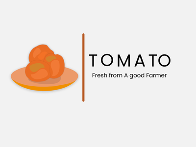 Tomato Ilustration illustration icon flat design