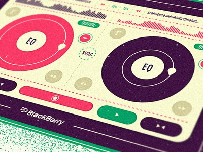 DJ Set #2 illustration editorial close-up buttons clubbing dj tablet mixer music player