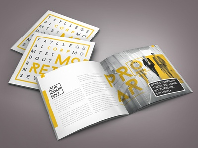 Retro Indesign Brochure Template By Braxas Dribbble - Brochure template for indesign