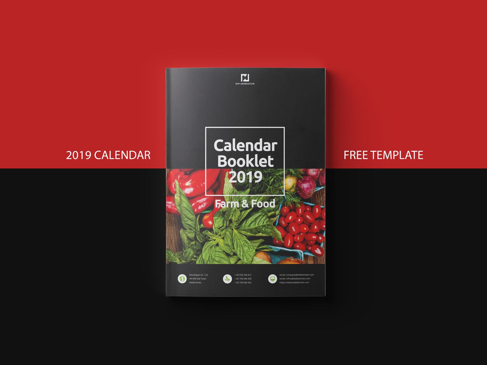 Free Template Calendar 2019 By Braxas Dribbble