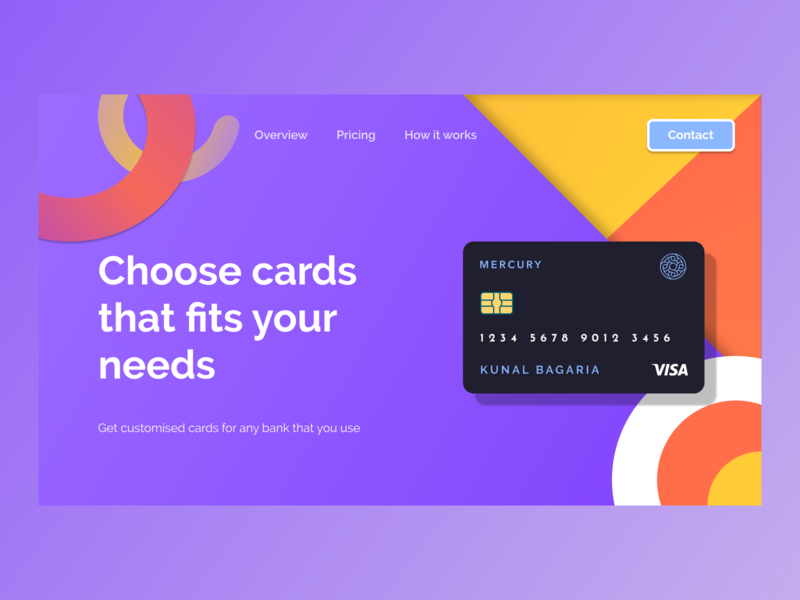 Virtual Cards made physical - Concept payment logo animation website vector macos illustration branding ux minimal design