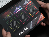 Screen of Nike product page