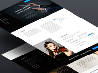 Prague Orchestra webdesign