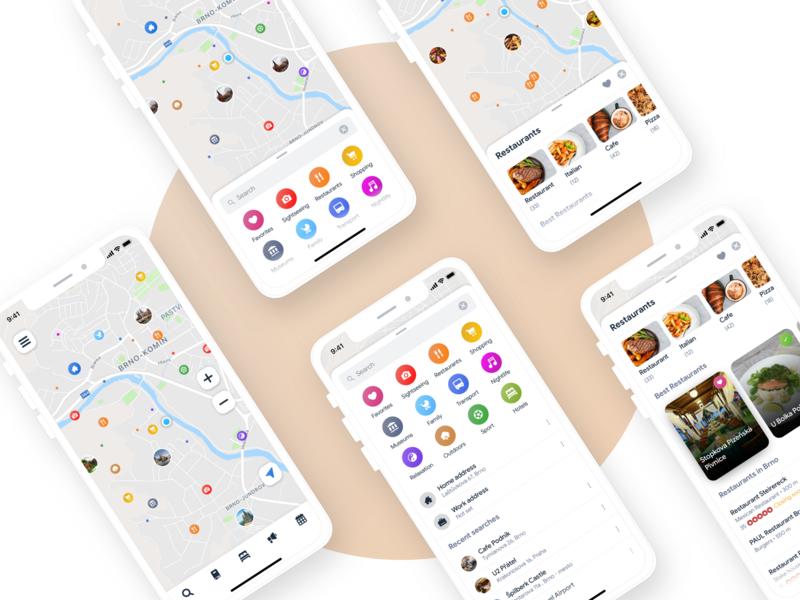 Sygic Travel App: Map & Search by Jiri Barta on Dribbble