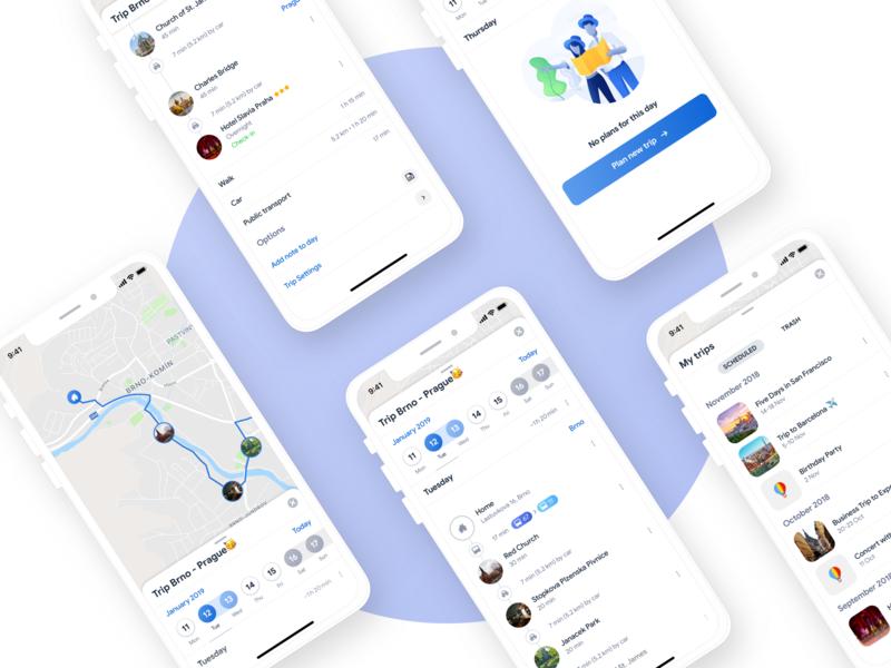 Sygic Travel App: Trip Itinerary by Jiri Barta on Dribbble