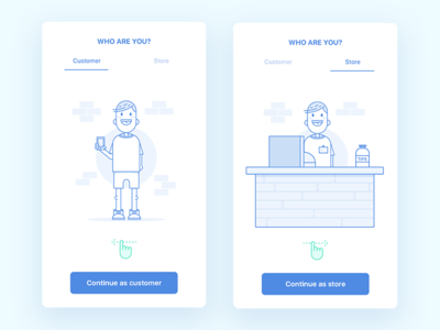 Onboarding for ecommerce application clean onboarding ux ui illustration ios