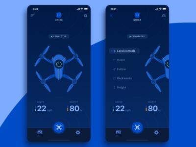 App for Drone tech drone app concept navigation mobile ukraine ios illustration ux ui