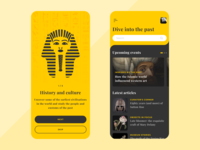 History and culture app app concept onboarding mobile illustration ios clean ux ui