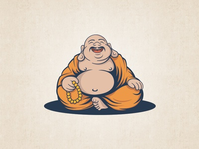 Dribbble Buddha With Mustaches
