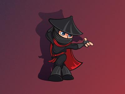 Dance Ninja dance ninja blog illustration mascot logo design vector character cartoon