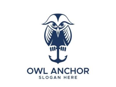 Owl Anchor Logo Design