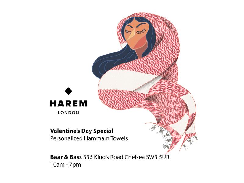 HAREM LONDON POSTER ILLUSTRATION