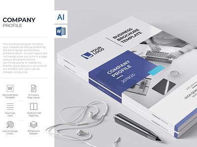 Company Profile, Word Template branding corporate brochure business brochure microsoft word brochure word brochure design company profile brochure template brochure design