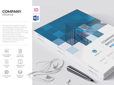 Corporate Brochure, Word Template microsoft word word template indesign template company profile brochure template brochure design