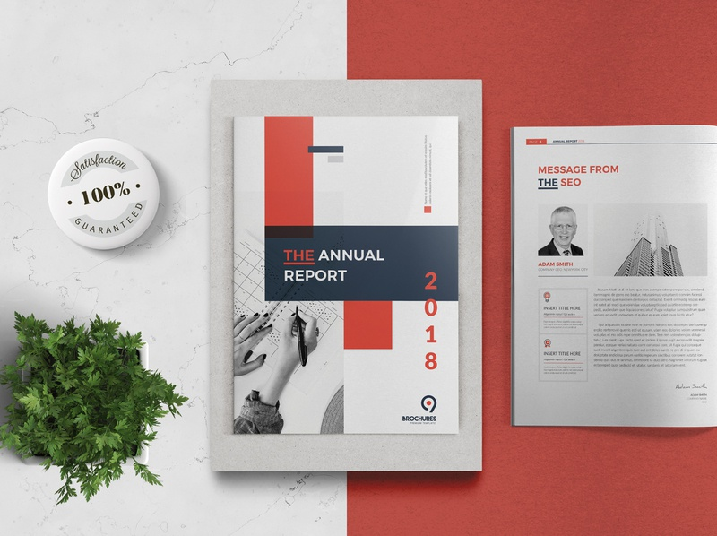Annual Report 24 Pages layout brochure report indesign brochure company profile brochure template template design brochure design report cover annual report