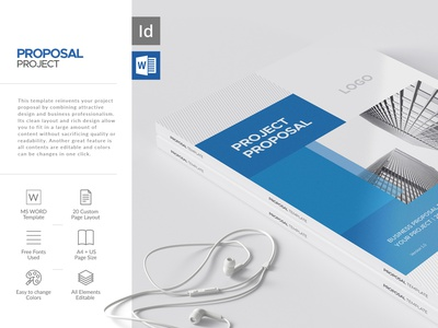 Project Proposal Word Template company branding company profile proposal document proposal design brochure layout brochure template proposal word proposal proposal template