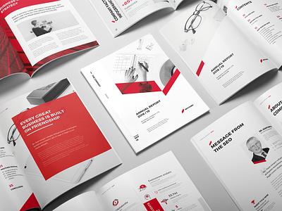 Sharp Annual Report infographic indesign brochure company profile report design brochure layout company branding brochure template brochure design report cover annual report