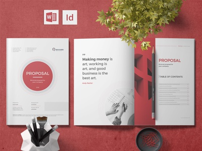 Minimal Proposal indesign template print design brochure design brochure template minimal proposal word proposal proposal template proposal design