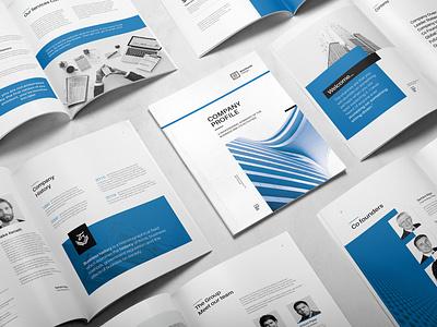 Minimal Company Profile design report report cover infographic indesign template annual report company profile brochure layout brochure template brochure design