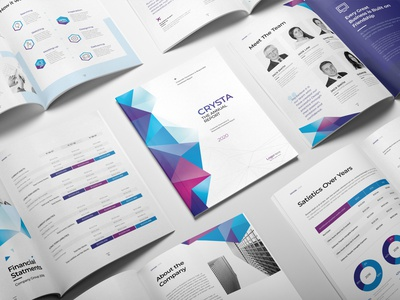 Abstract Polygon Annual Report design abstract polygon indesign template brochure template report cover brochure layout brochure design