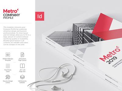 Metro Company Profile Template design report cover annual report indesign template company profile brochure layout brochure template brochure design