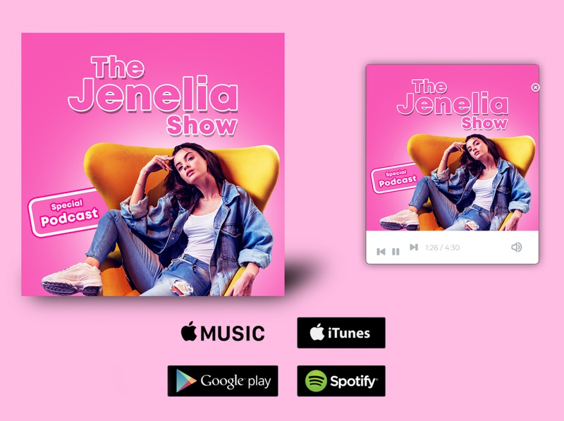 Jenelia show podcast cover art design poster design poster art graphicdesign album cover podcast logo podcast art podcasting podcasts podcast