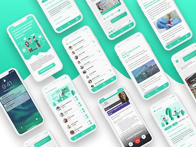 Messenger hotline - for exchange students interfaces design student work uxdesign ux app