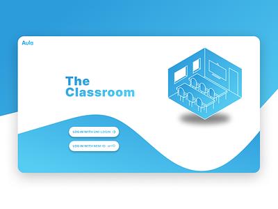 Digital classroom - landing page uxdesign ux branding student work design