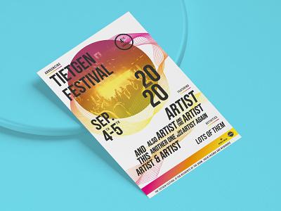 Music festival poster - Tietgen Festival 2020 gradients print poster music volunteering festival branding design