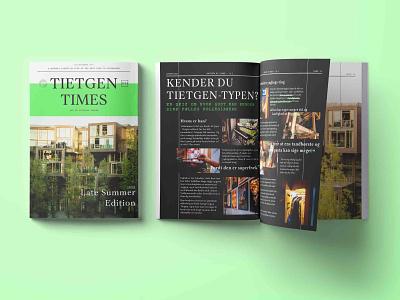 Magazine - newspaper for the Tietgen Dormitory volunteering dormitory magazine print design