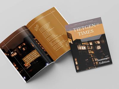 Tietgen Times - Summer Edition volunteering dormitory print student work design