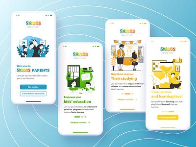 Parent App - Onboarding parents interfaces app uxdesign ux student work design