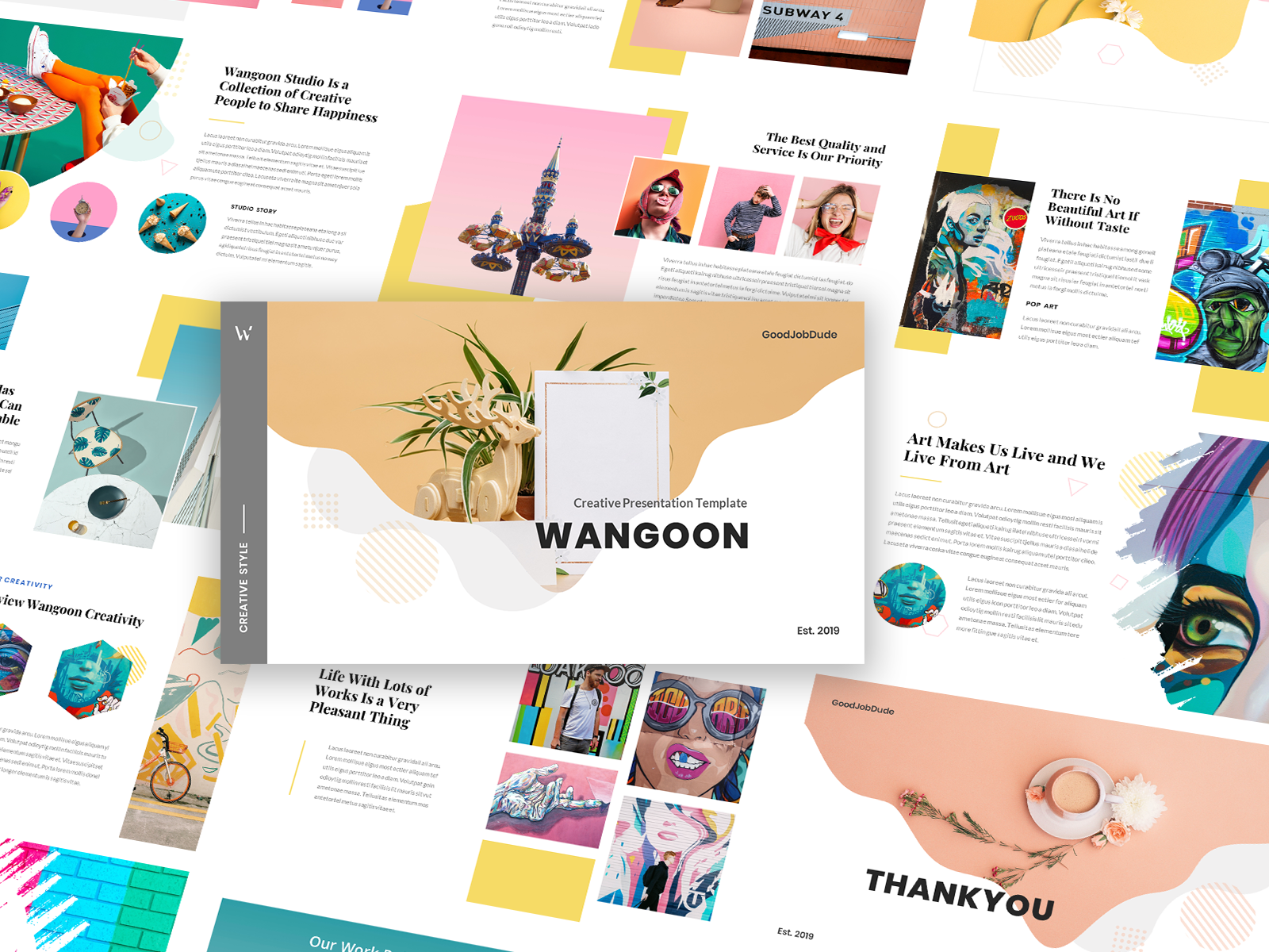 Wangoon Creative Business Pop Art Powerpoint Template By
