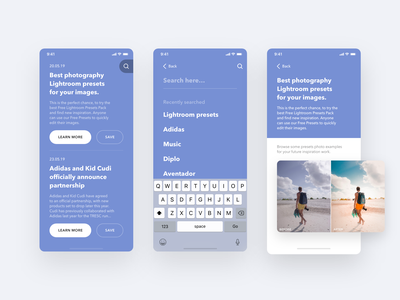 News App webdesign web sketchapp sketch adobe xd ios application ios app development application ios app design ios apps appstore uiux ios ux ios ui ios app interface ux ui design