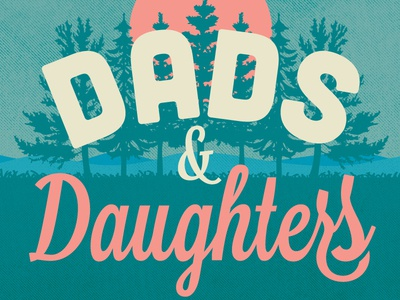 Dads Daugthers Logo Badge
