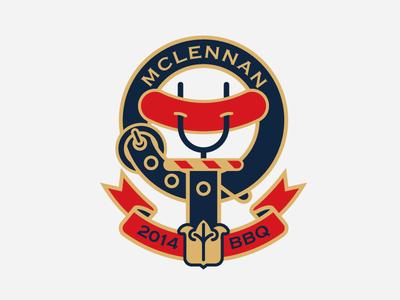 Clan McLennan Summer BBQ  bbq logo tartan scottish sausage summer coat of arms celtic belt