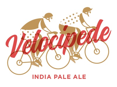 Velocipede IPA spped bicycle bike illustration craft beer velocipede ipa beer