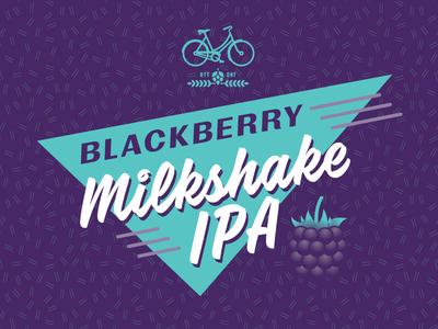Blackberry Milkshake IPA Label bicycle design branding illustration label beer ipa blackberry