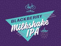 Blackberry Milkshake IPA Label