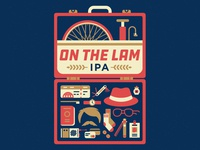 On The Lam IPA label design