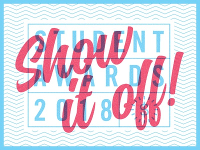 Show it off! design toronto lines branding logo typography students awards