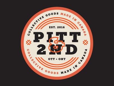 Pitt & 2nd Pt.1 fun branding ontario ottawa logo typography design badge