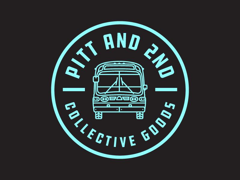Pitt & 2nd Pt.2 bus fun branding ontario ottawa logo typography design badge