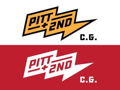 Pitt & 2nd Pt.3 identity typography logo design patch badge bolt lightening