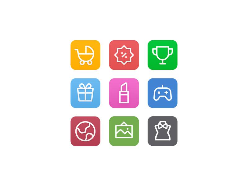 shopping icon ui icon icon design vector shopping app shopping iconset shoppingicon